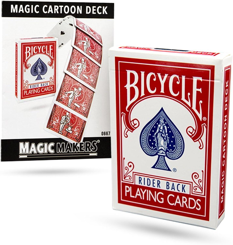 Magic Cartoon Deck Trick Bicycle Version from Magic Makers