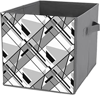 Boîte de rangement pliable en forme de cube - Organiseur de placard en tissu avec poignées pour la maison, le bureau, les ...