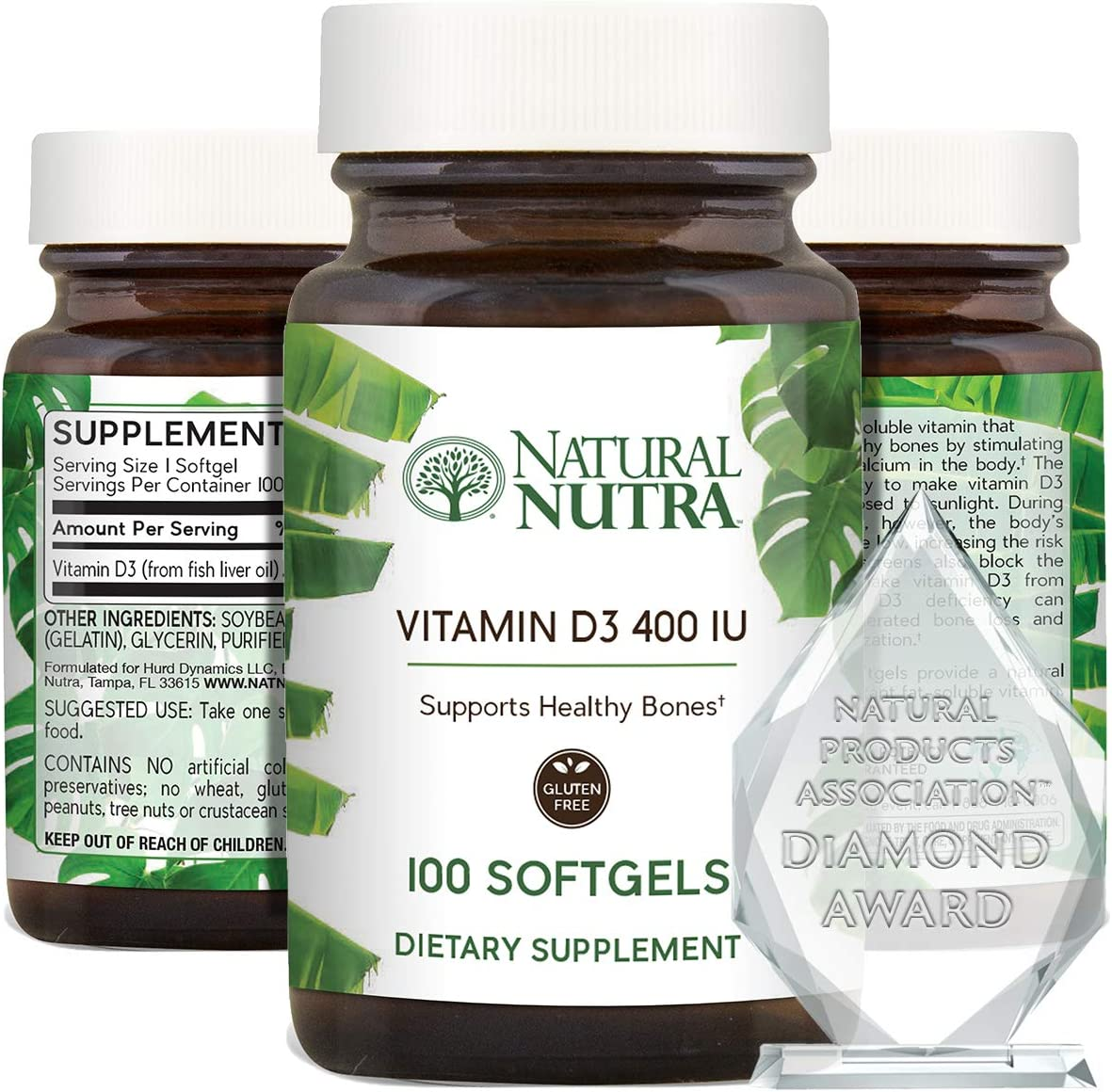 Natural Nutra Supreme Vitamin D3 Weekly update Max 88% OFF Softgels for IU Supplement 400