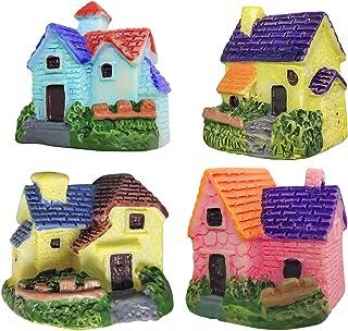 ZJW 4pcs Miniature Dollhouse Ornaments Accessories Bonsai Craft Garden Resin Landscape DIY Villa Decor, Birthday Gift for ...