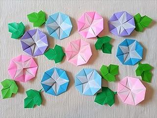 折り紙 夏 7月8月 あさがお 朝顔 パステルカラー 10個 14 花 壁面飾り ハンドメイド
