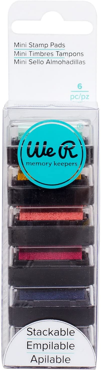 We R 2021 autumn and winter new Memory Keepers 0633356630920 Pads Piec Stamping-Mini 6 Ink Jacksonville Mall