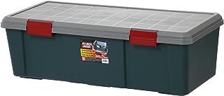 アイリスオーヤマ 収納 BOX 900×400×280 RVBOX 900D グレー/ダークグリーン