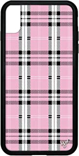 Wildflower Limited Edition iPhone Case for iPhone Xs Max (Pink Plaid)