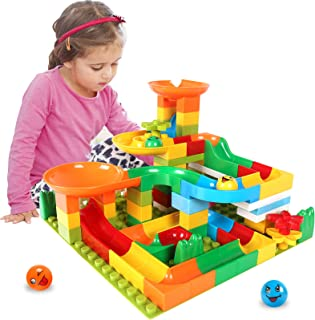 EP EXERCISE N PLAY Marble Run Building Block Sets for Kids, 103 Pieces STEM Building Toys Race Track Preschool Educational...
