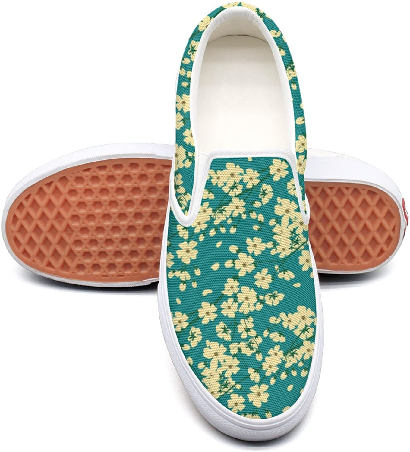 Hjkggd fgfds Casual purplec Flowers Attractive Women Canvas shoes