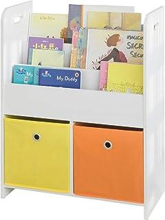 SoBuy® KMB27-W Bibliothèque Meuble de Rangement pour Livres et Jouets Étagère Enfant Étagère à Livres Étagère de Rangement...