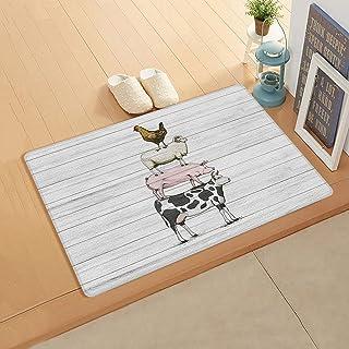 Olivefox Indoor Outdoor Doormats 24x36 Inch Absorbent Doormat Home Decor Welcome Mat Non-Slip Accent Area Rug Farm Animals...