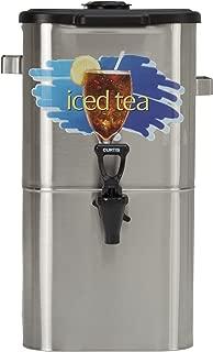 "Wilbur Curtis Iced Tea Dispenser 4.0 Gallon Tea Dispenser, Oval 17""H - Designed to Preserve Flavor - TCO417A000 (Each)"