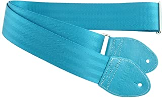 Souldier Custom GS0000TQ04TQ Recycled Seatbelt Electric Guitar Strap, Turquoise