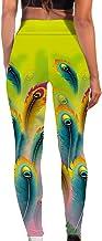 HWTMKJ Vrouwen Lange Yoga Broek Sport Gym Leggings Running Workout Panty Bloemen Gedrukt Hoge Taille Stretch Fitness Broek