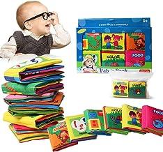 LyGuy 12 P/áginas Libro De Tela Beb/é Ni/ños Inteligencia Desarrollo Educativo Aprendizaje Juguetes Libro De Tela para Beb/é Regalo para Ni/ños