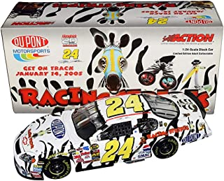 AUTOGRAPHED 2004 Jeff Gordon #24 DuPont RACING STRIPES MOVIE (Zebra Paint Scheme) Rare Signed Collectible Action 1/24 Scale NASCAR Diecast Car with COA (1 of only 4,920 produced)
