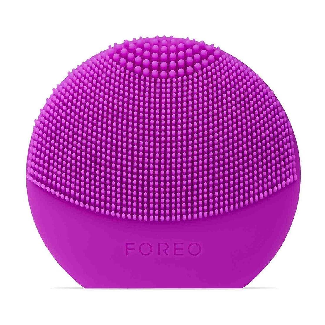悪意のあるおなじみの大FOREO LUNA Play Plus パープル シリコーン製 音波振動 電動洗顔ブラシ 電池式