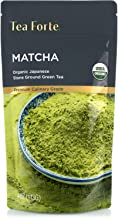 Tea Forte Organic Matcha Green Tea Powder, Culinary Grade Japanese Matcha for Cooking, Baking or Latte, 4 Ounce Resealable Pouch