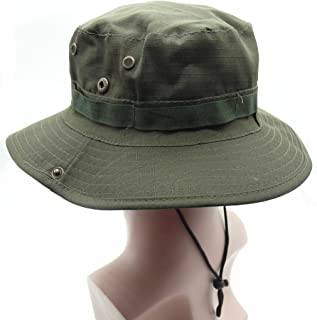 TRENDBOX Olive Boonie Army Camo Military Boonie Sun Bucket Hat Unisex Cap for Sports Camping Fishing Hiking Boating Outdoor