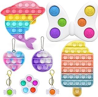 اسباب بازی های Fidget ، Fidget Pack , Pop Bubble Sensory Fidget اسباب بازی ، اسباب بازی ساده گودی ، اسباب بازی حسی فشرده ، اسباب بازی ضد استرس سیلیکون ، اوتیسم نیاز به رفع فشارهای روانی ، برای کودکان ، بزرگسالان.