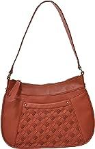 B. Makowsky BM13136 Welly Hobo Leather Handbag, Ginger