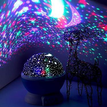 ElecStars Lámpara de iluminación led, ilumina tu recámara con esta Luna, estrella, cielo romántico, el mejor regalo para hombres, mujeres, adolescentes, niños, niñas, ayuda para dormir