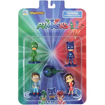 Pj Masks Pencil Toppers Blister 5 (S1) - Gekko, Conor, Gekko Mobile, Catboy, Amaya for Kids 3+ & Above