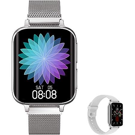 Aliwisdom - Reloj Inteligente para Hombre Mujere, Smartwatch con Llamadas Bluetooth y Recordatorio de Whatsapp y reproducción de música Impermeable ...