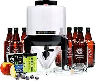 Brewdemon Kit para elaborar Sidra Artesana | Kit de Inicio Sidra fácil de Usar con fermentador cónico Reutilizable, Equipo e Ingredientes | por Primera Vez en España