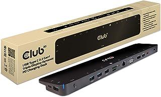 Club3D USB 3.2 Gen1 Type C HDMI/DisplayPort/VGA トリプル ディスプレイ 100W ダイナミック チャージング ドッキングステーション (CSV-1564)