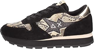 SUN68 Ally Star Pynthon Sneakers Donna Beige Nero Z40211