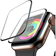 Screen Protector for Apple Watch, [2-Pack] (42mm for Series 3/2/1) Liquid Skin HD Clear Max...