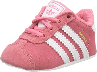 adidas Baby Girls' Gazelle Crib Shoes, Chalk Pink/Footwear White/Footwear White