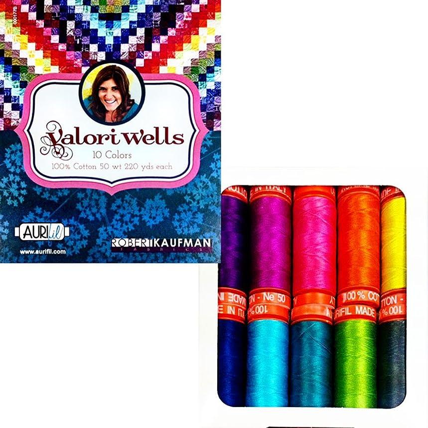 Aurifil Thread Set Valori Wells Thread 50wt Cotton 10 Small (220 yard) Spools