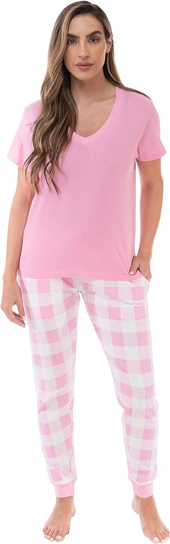 Just Love Pajama Jogger Pant Set Sleepwear Pjs - Buffalo Plaid and Tie Dye