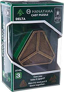 DELTA Hanayama Cast Metal Brain Teaser Puzzle (Level 3)
