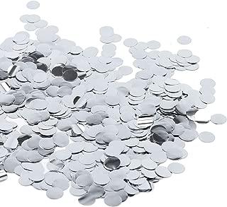 Battife Silver Metallic Glitter Foil Confetti 1.8oz - 0.6inch Round Table Confetti Dots for Wedding Celebration Party Decorations - 50grams (Silver)
