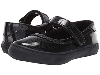 Nine West Kids Adaya Mary Jane (Toddler/Little Kid) (Smooth Black Glitter) Girl