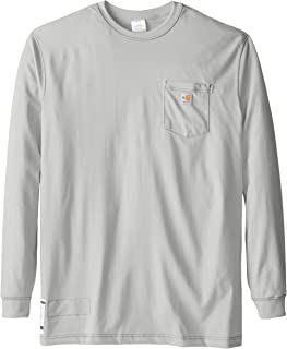 f9796f26a6bf Carhartt Men's Big & Tall Flame Resistant Force Cotton Long Sleeve T-Shirt
