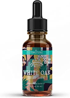 White Oak Tincture, Organic White Oak Extract (Quercus alba) Dried Bark Supplement 2 Oz, 670 mg