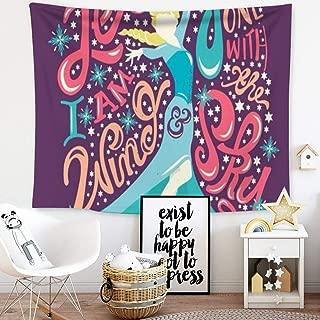 DISNEY COLLECTION Tapestry Disney Elsa Frozen Let It Go Princess Wallpaper Tapestry for Living Room Bedroom Dorm Home Decor 60 Inch40 Inch