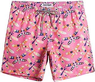 MaaMgic Mens Short Swim Trunks Boys Quick Dry Beach Broad Shorts Swim Suit with Mesh Lining