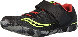 Saucony Men's Unleash SD2 Track and Field Shoe black/red