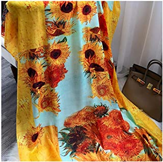 Scarves and Wraps Scarfs for Women Shawls and Wraps Suitable for Home Outdoors Office Party Dates Evening Events Suitable for Spring Summer and Winter (Color : Yellow)