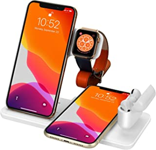Wireless Charger 4 in 1 Charging Dock for Airpods Pro and Iwatch 5 Charging Station Fast Charging Stand for iPhone 11/11Pr...