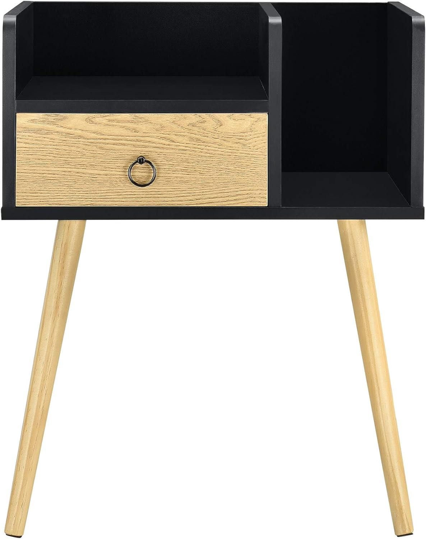en.casa] Beistelltisch mit Schublade 20 x 20 x 20 cm Kommode ...