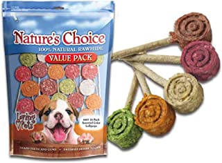 Natures Choice Lollipops Assorted Color Pack of 20