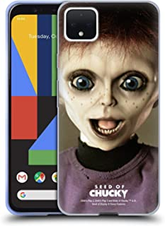 Official Seed of Chucky Glen Doll Key Art Soft Gel Case Compatible for Google Pixel 4 XL