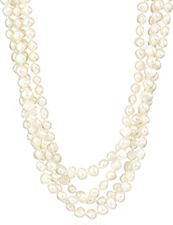 """6-7mm Baroque Freshwater Cultured Pearl Endless Necklace, 100"""""""