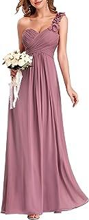 Ever-Pretty Vestito da Cerimonia Donna Una Spalla Chiffon Linea ad A Stile Impero Lungo 09768