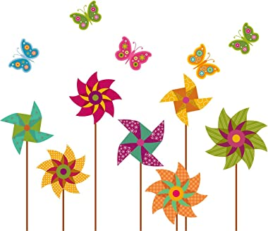 Amazon Brand - Solimo Wall Sticker for Bedroom (Pinwheel Design Pattern ), Ideal Size on Wall: 87 x 89 cm