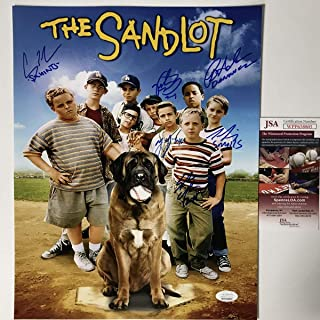 Autographed/Signed The Sandlot Movie 6x Cast Member Sigs 11x14 Baseball Photo JSA COA