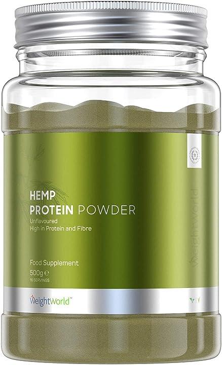Proteine vegetali di canapa in polvere 500g 420b6c2b-VC Weightworld
